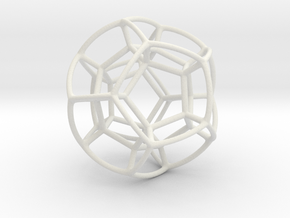 Double Bubble Dodecahedron in White Natural Versatile Plastic