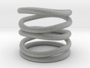 Curlicue spiral ring in Metallic Plastic