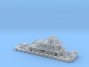 128' Pusher Boat in Z scale in Frosted Ultra Detail
