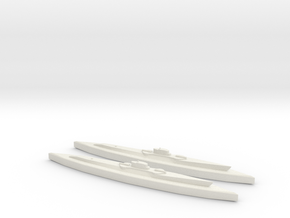 USS Nautilus & Narwhal 1:1800 in White Natural Versatile Plastic