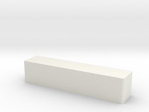 Solid magnet Halbach holder in White Natural Versatile Plastic