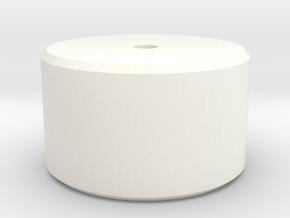 Barrel Closing Tool Top in White Processed Versatile Plastic
