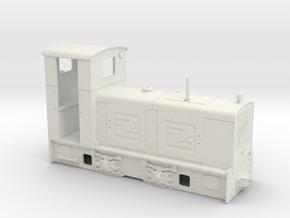 Feldbahn Jung ZL 233 (Spur 0e/f) in White Natural Versatile Plastic