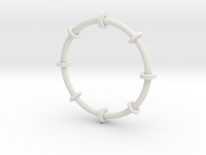 Fiddle toy bangle in White Strong & Flexible