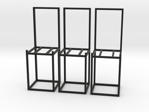 zz - Stand, chair style, tall  - 3x in Black Natural Versatile Plastic