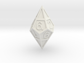 D10 Framed Diamond Dice in White Strong & Flexible