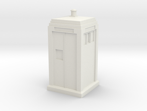 Metropolitan Police Box mk3 in White Strong & Flexible