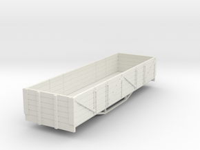 OO9 bogie 5 plank open wagon  in White Natural Versatile Plastic