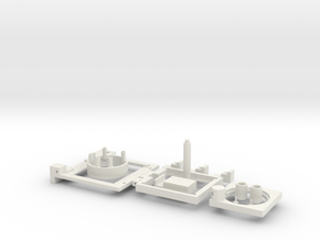 Assembly 3dpr in White Natural Versatile Plastic