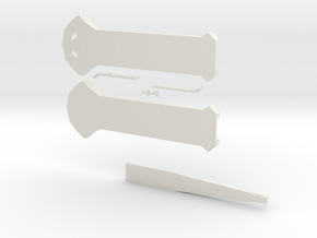 Hidden Blade in White Natural Versatile Plastic