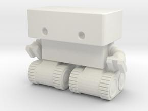 Robot 0025 Tank Tread Bot in White Natural Versatile Plastic