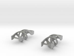 DNA Earrings in Metallic Plastic