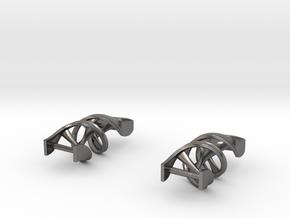 DNA Earrings in Polished Nickel Steel