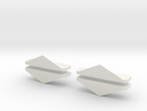 Schneeschieber 1:220 Dampflok 4 Stück in White Strong & Flexible
