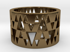 Tri Band Ring Size 8 in Polished Bronze