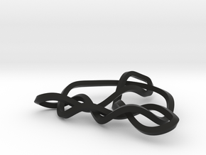 3D Trinity Knot in Black Strong & Flexible
