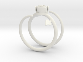 rose ring in White Strong & Flexible