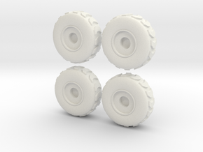 Tire Set 002 - 28mm in White Natural Versatile Plastic