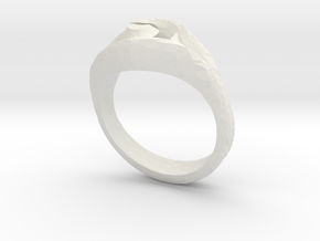 Ring4 in White Natural Versatile Plastic