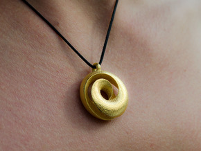 Split Torus pendant  in Polished Gold Steel