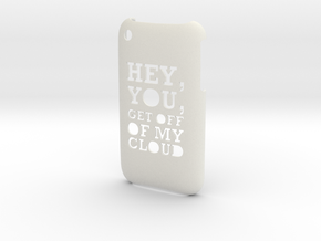 'Cloud' iPhone 3GS Cover in White Natural Versatile Plastic