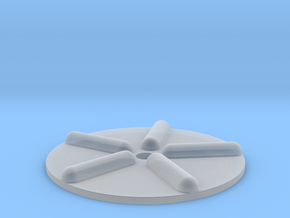 Wellenscheibe-einfach in Smooth Fine Detail Plastic