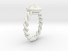 Ringster twist in White Natural Versatile Plastic