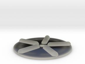 Wellenscheibe-einfach in Transparent Acrylic
