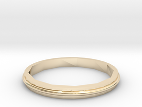Square Two Ring - Sz. 6 in 14K Yellow Gold