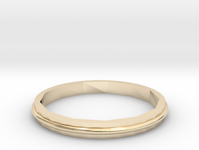 Square Two Ring - Sz. 7 in 14K Yellow Gold