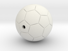 Soccer Ball in White Natural Versatile Plastic
