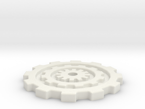 40mm Gear Base in White Natural Versatile Plastic