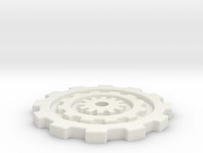 40mm Gear Base in White Natural Versatile Plastic