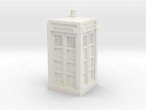 Police Box model kit in White Natural Versatile Plastic