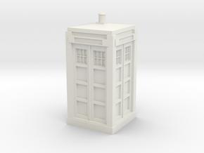 Police Box model kit in White Natural Versatile Plastic