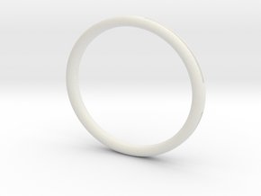 Groove Bangle in White Natural Versatile Plastic