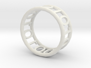 Binary ring in White Strong & Flexible