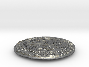 Uncharted: Spanish Gold Coin in Polished Silver