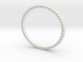 Wire weave bangle in White Natural Versatile Plastic