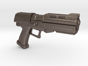 Heavy Plasma Pistol in Polished Bronzed Silver Steel