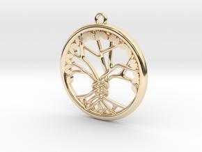 Tree Of Life Pendant in 14K Yellow Gold: Medium