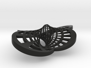 Round Möbius Strip (Large variant) in Black Strong & Flexible