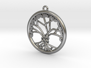 Tree Of Life Pendant in Natural Silver: Medium