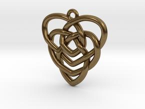 Mother's Knot Pendant in Natural Bronze: Medium