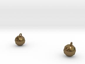 Xmas Ball Earrings in Natural Bronze
