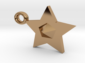 Star Pendant in Polished Brass