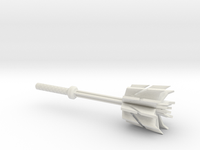 Decepticon Mace in White Natural Versatile Plastic