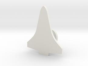 Space Shuttle Orbiter Cuff Link - Right in White Natural Versatile Plastic