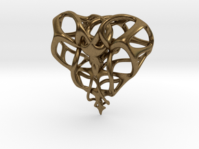 Heart for Love in Natural Bronze