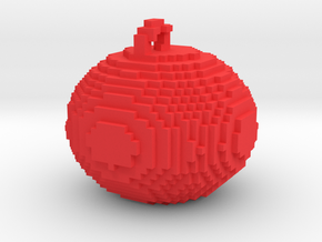 minecraft smaller xmas ball in Red Processed Versatile Plastic